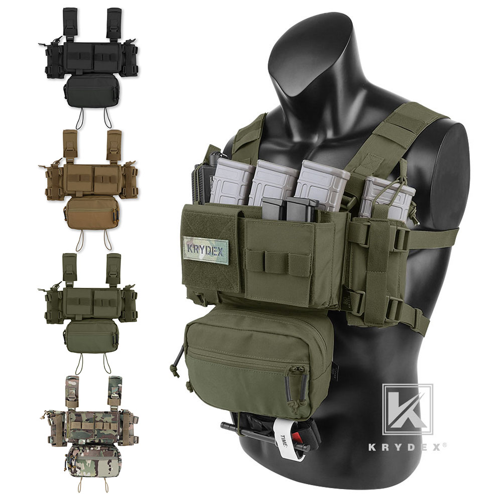 KRYDEX MK3 Micro Fight Chest Rig Chassis Tactical Carrier with Magazine Pouch